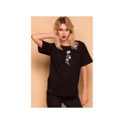 Rose T-shirt Bluzka. Czarne t-shirty damskie Animals wave, z haftami, z bawełny. Za 79.00 zł.