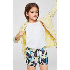 Mango Kids - Szorty dziecięce Madeira 104-164 cm. Spodenki dla dziewczynek Mango Kids, z dzianiny, casualowe. Za 29.90 zł.