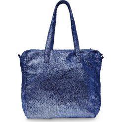 Torba shopper metallic bonprix ciemnoniebieski. Niebieskie torebki shopper damskie bonprix, ze skóry. Za 59.99 zł.
