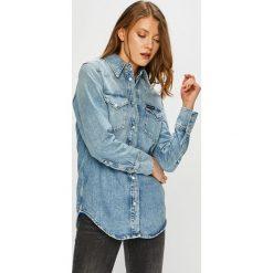Calvin Klein Jeans - Koszula. Szare koszule damskie Calvin Klein Jeans, z bawełny, klasyczne, z klasycznym kołnierzykiem, z długim rękawem. Za 399.90 zł.