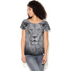 Colour Pleasure Koszulka damska CP-034  244  szaro-czarna r. XS-S. T-shirty damskie Colour Pleasure. Za 70.35 zł.