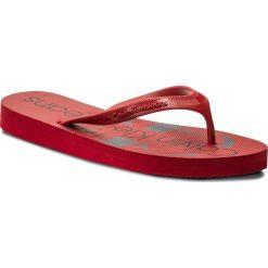 Japonki CALVIN KLEIN JEANS - Paulina R8948 Dark Red. Czerwone klapki damskie Calvin Klein Jeans, z jeansu. Za 159.90 zł.