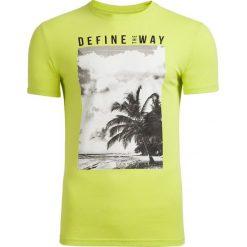 T-shirt męski TSM607 - soczysta zieleń - Outhorn. Zielone t-shirty męskie Outhorn, na lato, z bawełny. Za 39.99 zł.