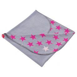 Beemy Kocyk Letni, Stars Grey Pink. Różowe kocyki dla dzieci Beemy. Za 55.00 zł.
