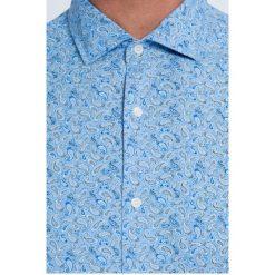 Trussardi Jeans - Koszula. Szare koszule męskie TRUSSARDI JEANS, z bawełny, z włoskim kołnierzykiem, z długim rękawem. W wyprzedaży za 269.90 zł.