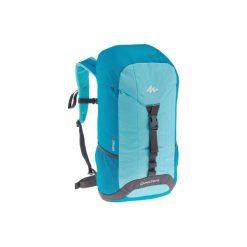 Plecak turystyczny NH100 30 l. Niebieskie plecaki damskie QUECHUA, z materiału. Za 49.99 zł.
