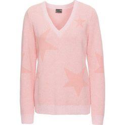 Sweter bonprix jasnoróżowy melanż. Swetry damskie marki bonprix. Za 89.99 zł.