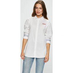 Tommy Jeans - Koszula. Szare koszule damskie Tommy Jeans, z jeansu, z długim rękawem. W wyprzedaży za 239.90 zł.