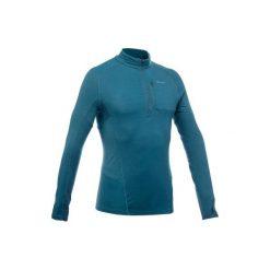 Koszulka trekkingowa długi rękaw Trek 900 wool męska. Niebieskie bluzki z długim rękawem męskie FORCLAZ, z wełny. W wyprzedaży za 119.99 zł.