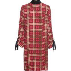 Sukienka bonprix brązowy-cappuccino-pomarańczowoczerwony w kratę. Brązowe sukienki damskie bonprix. Za 119.99 zł.