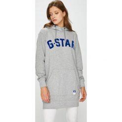 G-Star Raw - Bluza. Szare bluzy damskie G-Star Raw, z nadrukiem, z bawełny. Za 499.90 zł.