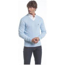 Polo Club C.H..A Sweter Męski M Jasnoniebieski. Szare swetry przez głowę męskie Polo Club C.H..A, dekolt w kształcie v. W wyprzedaży za 259.00 zł.