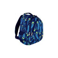 Plecak młodzieżowy St.Right Peacock. Niebieskia torby i plecaki dziecięce St-Majewski, z materiału. Za 126.00 zł.