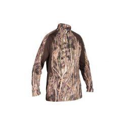 Koszulka myśliwska WF500D. Szare bluzki z długim rękawem męskie SOLOGNAC, ze skóry. Za 79.99 zł.