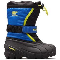 Sorel Chłopięce Śniegowce Flurry, 27, Czarne/Niebieskie. Czarne buty zimowe chłopięce Sorel, z tkaniny. Za 269.00 zł.