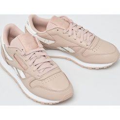 Reebok Classic - Buty Cl Lthr. Szare obuwie sportowe damskie Reebok Classic, z gumy. W wyprzedaży za 299.90 zł.