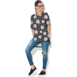 Colour Pleasure Koszulka CP-033  118 grafitowo-biało-pomarańczowa r. uniwersalny. T-shirty damskie Colour Pleasure. Za 76.57 zł.