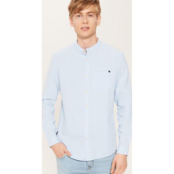 1da4abd0ef92b2 Koszula ze stójką - Niebieski - Koszule męskie House. W wyprzedaży ...