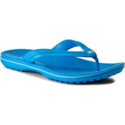 Japonki CROCS - Crocband Flip 11033 Ocean/Electric Blue. Niebieskie klapki damskie Crocs, z tworzywa sztucznego. Za 119.00 zł.