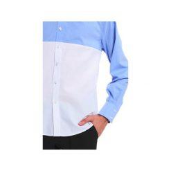 KOSZULA MĘSKA MBEP_K41. Niebieskie koszule męskie Blue eye pop, z klasycznym kołnierzykiem, z długim rękawem. Za 249.00 zł.