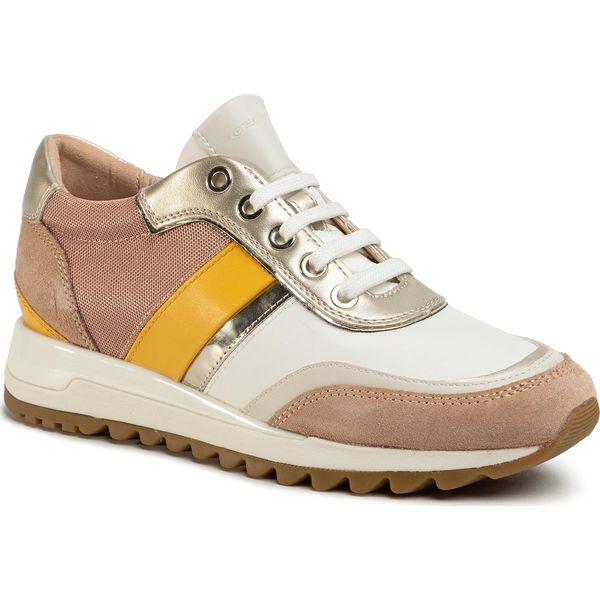 Sneakersy GEOX D Tabelya A D02AQA 02211 C5Q1Z Dk SkinWhite