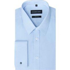 Koszula SIMONE KDNR000234. Niebieskie koszule męskie Giacomo Conti, z materiału, z klasycznym kołnierzykiem. Za 199.00 zł.