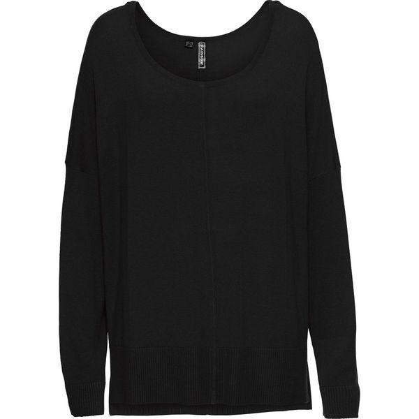Damski sweter dzianinowy czarny