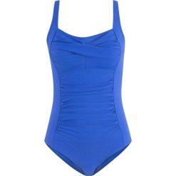 Kostium kąpielowy wyszczuplający bonprix błękit królewski. Kostiumy jednoczęściowe damskie marki DOMYOS. Za 124.99 zł.
