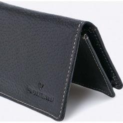 VIP COLLECTION - Portfel skórzany. Czarne portfele męskie VIP COLLECTION, z materiału. W wyprzedaży za 24.90 zł.