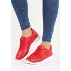 Czerwone Buty Sportowe Top Secret. Czerwone obuwie sportowe damskie Born2be, z materiału. Za 59.99 zł.