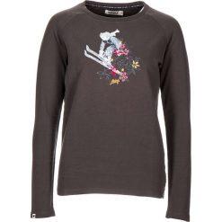 """Koszulka """"Nehalem"""" w kolorze antracytowym. Szare bluzki damskie Maloja, z aplikacjami, z okrągłym kołnierzem, z długim rękawem. W wyprzedaży za 108.95 zł."""