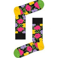 Happy Socks - Skarpetki Andy Warhol Flower. Brązowe skarpety damskie Happy Socks, z bawełny. Za 49.90 zł.