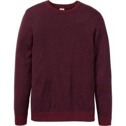 Sweter w paski bonprix czerwony klonowy-ciemnoniebieski w paski. Swetry przez głowę męskie marki Giacomo Conti. Za 74.99 zł.