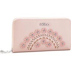 Duży Portfel Damski NOBO - NPUR-E0010-C004 Różowy. Czerwone portfele damskie Nobo, ze skóry ekologicznej. W wyprzedaży za 99.00 zł.