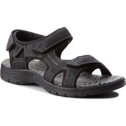 Sandały LANETTI - MS17012-3 Czarny. Czarne sandały męskie Lanetti, z materiału. W wyprzedaży za 79.99 zł.
