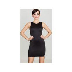 Sukienka K243 Czarny. Czarne sukienki damskie Lenitif. Za 119.00 zł.