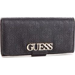 Duży Portfel Damski GUESS - SWSG71 7859 BLA. Czarne portfele damskie Guess, z aplikacjami, ze skóry ekologicznej. Za 279.00 zł.
