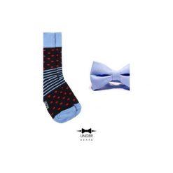 Red Dot Zestaw Muszka i skarpetka. Niebieskie krawaty i muchy Underbeard, z bawełny, klasyczne. Za 110.00 zł.