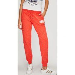 U.S. Polo - Spodnie. Szare spodnie materiałowe damskie U.S. Polo, z bawełny. W wyprzedaży za 159.90 zł.