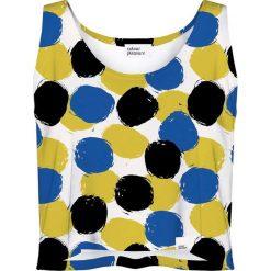 Colour Pleasure Koszulka damska CP-035 4 żółto-niebieska r. M-L. T-shirty damskie Colour Pleasure. Za 64.14 zł.