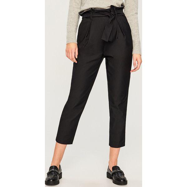 7deaf3f8e8aa Spodnie paper bag - Czarny - Spodnie materiałowe damskie marki ...