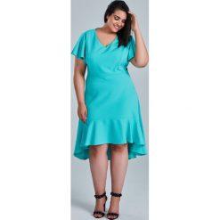 844bbf09 Miętowa sukienka NILA na wesele duże rozmiary OVERSIZE PLUS SIZE WIOSNA