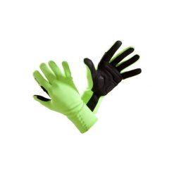 Rękawiczki na rower 500 jesienne. Żółte rękawiczki damskie B'TWIN, na jesień, z polaru. Za 49.99 zł.