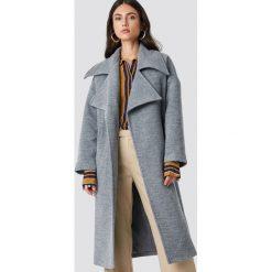 Trendyol Płaszcz Oversized Archer - Grey. Szare płaszcze damskie Trendyol, w paski. Za 323.95 zł.