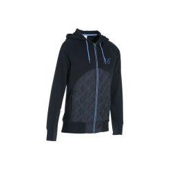 Bluza SW500 granatowa. Niebieskie bluzy damskie FOUGANZA, z materiału. Za 99.99 zł.
