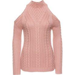 Sweter bonprix jasnoróżowy. Swetry damskie marki bonprix. Za 89.99 zł.