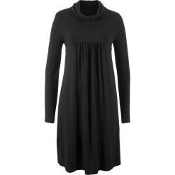 Sukienka shirtowa z długim rękawem bonprix czarny. Czarne sukienki damskie bonprix, z długim rękawem. Za 74.99 zł.