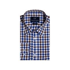 Koszula 1911 8. Niebieskie koszule męskie Guns&tuxedos, z bawełny, z klasycznym kołnierzykiem. Za 129.99 zł.