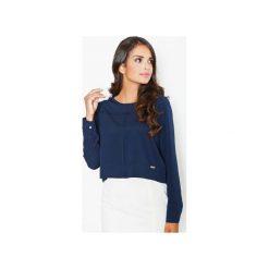 Bluzka M395 Granat. Niebieskie bluzki damskie Figl, eleganckie, z długim rękawem. Za 99.00 zł.