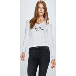 Pepe Jeans - Bluzka Mara. Szare bluzki damskie Pepe Jeans, z nadrukiem, z dzianiny, casualowe. Za 179.90 zł.